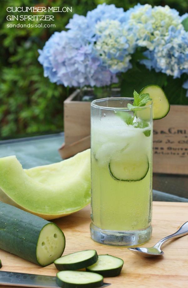 Cucumber Melon Gin Spritzer 2