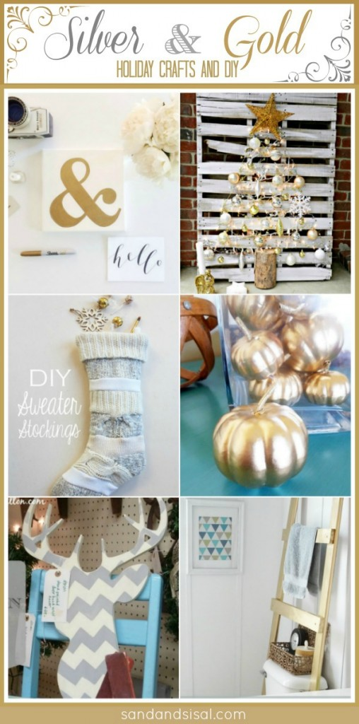 Silver and Gold Holiday Crafts + DIY